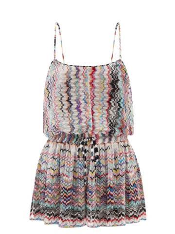 Missoni Mare - Zigzag-jacquard Knit Playsuit - Womens - Black Multi