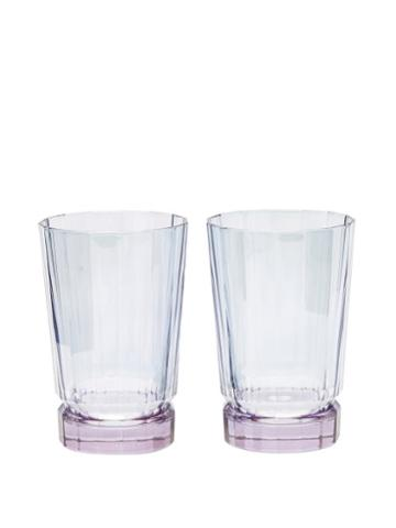 Matchesfashion.com Luisa Beccaria - Set Of Two Duccio Gradient Highball Glasses - Blue Multi