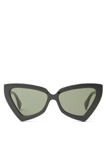 Matchesfashion.com Le Specs - Rinky Dink Oversized Cat-eye Sunglasses - Womens - Black