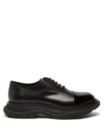 Matchesfashion.com Alexander Mcqueen - Chunky-sole Leather Oxford Shoes - Mens - Black