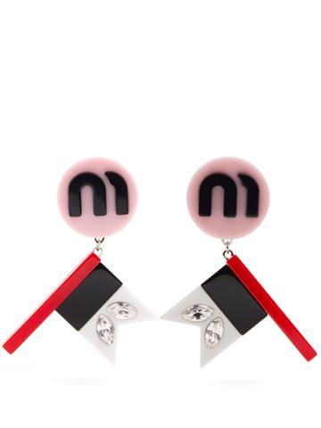 Miu Miu Flag Drop Earrings