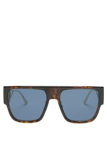 Matchesfashion.com Dior - 30montaigne D-frame Acetate And Metal Sunglasses - Womens - Tortoiseshell
