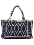 Matchesfashion.com Antonello Tedde - Rombi Medium Tote Bag - Womens - Navy White