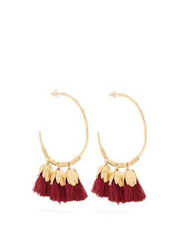 Elise Tsikis Choras Tassel-drop Gold-plated Hoop Earrings