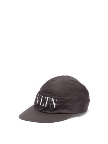 Matchesfashion.com Valentino Garavani - Vltn-logo Canvas Baseball Cap - Mens - Black