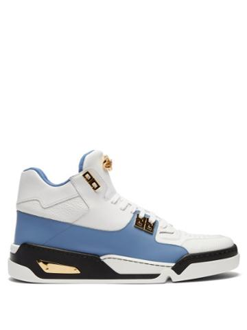 Matchesfashion.com Versace - High Top Leather Trainers - Mens - White