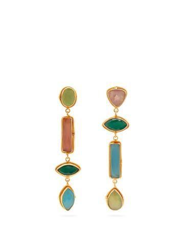 Matchesfashion.com Sylvia Toledano - Multi Stone Drop Clip Earrings - Womens - Multi