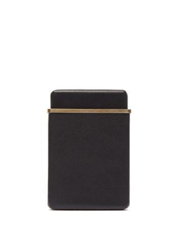 Matchesfashion.com The Row - Leather Cardholder - Mens - Black