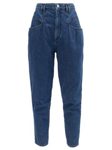 Matchesfashion.com Isabel Marant - Padeloisasr High-rise Tapered-leg Jeans - Womens - Navy