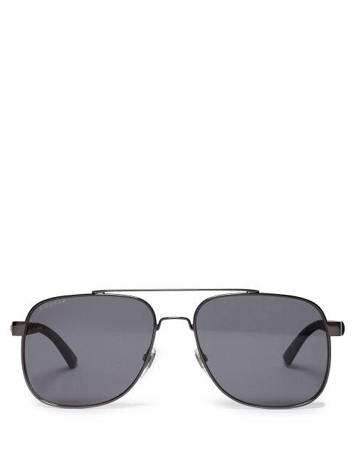 Matchesfashion.com Gucci - Aviator Sunglasses - Mens - Silver