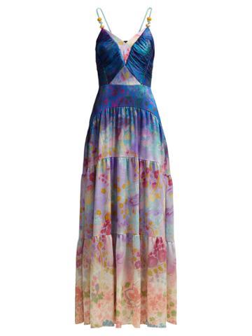 Peter Pilotto Floral-print Silk-blend Gown