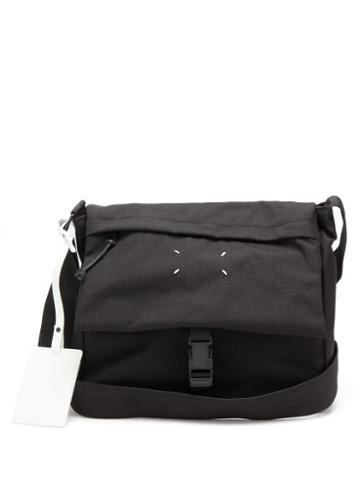 Matchesfashion.com Maison Margiela - Logo-fob Canvas Messenger Bag - Mens - Black