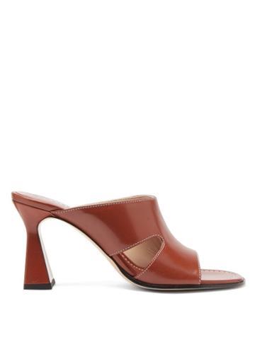 Matchesfashion.com Wandler - Marie Cutout Leather Mules - Womens - Tan