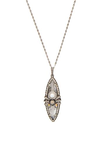 Alexander Mcqueen Spider Faux-pearl And Crystal Pendant Necklace
