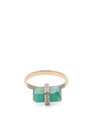 Matchesfashion.com Jade Jagger - 18kt Gold, Diamond & Emerald Ring - Womens - Green