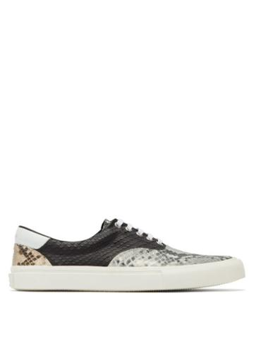 Matchesfashion.com Amiri - Python Effect Leather Trainers - Mens - Multi