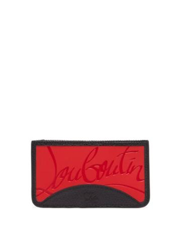 Matchesfashion.com Christian Louboutin - Credilou Grained Leather Cardholder - Mens - Red