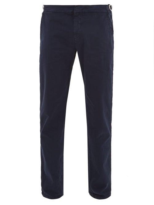 Matchesfashion.com Orlebar Brown - Campbell Cotton Blend Slim Leg Trousers - Mens - Navy