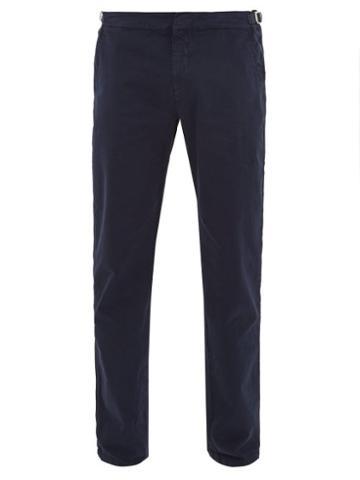 Matchesfashion.com Orlebar Brown - Campbell Cotton Blend Slim Leg Trousers - Mens - Navy