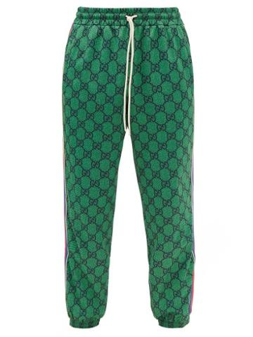 Gucci - Gg-print Jersey Track Pants - Mens - Green