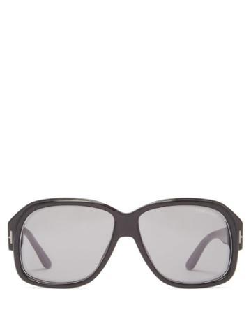 Matchesfashion.com Tom Ford Eyewear - Square Acetate Sunglasses - Mens - Black