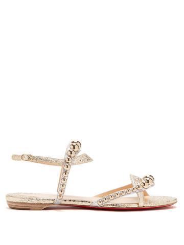 Christian Louboutin Galeria Stud-embellished Leather Sandals