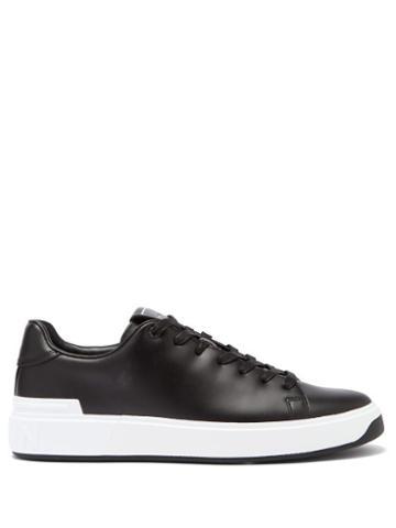 Matchesfashion.com Balmain - B-court Leather Trainers - Mens - Black White