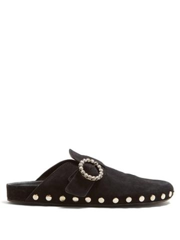 Matchesfashion.com Isabel Marant - Mirvin Backless Suede Clogs - Womens - Black