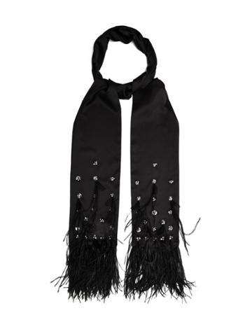 Koché Feather-embellished Silk Scarf