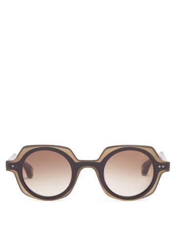 Blake Kuwahara Kahn Round-frame Acetate Sunglasses