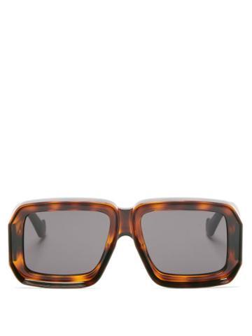 Matchesfashion.com Loewe Paula's Ibiza - Oversized Square Tortoiseshell-acetate Sunglasses - Womens - Tortoiseshell