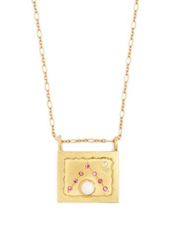 Matchesfashion.com Orit Elhanati - Dubai 18kt Gold, Diamond, Sapphire & Opal Necklace - Womens - Gold