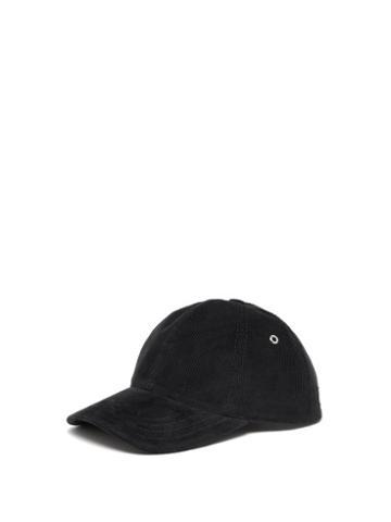 Matchesfashion.com Ami - Cotton Corduroy Baseball Cap - Mens - Navy