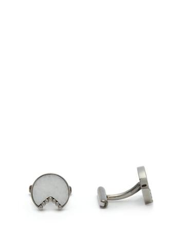 Matchesfashion.com Ioanna Souflia X Ysa - X Ysa Thassos Marble & White Gold Plated Cufflinks - Mens - Gold Multi
