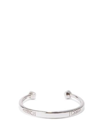 Isabel Marant - Arrow-engraved Brass Cuff - Mens - Silver