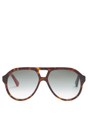 Gucci Aviator-frame Acetate Sunglasses