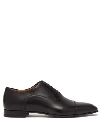Mens Shoes Christian Louboutin - Greggo Leather Oxford Shoes - Mens - Black