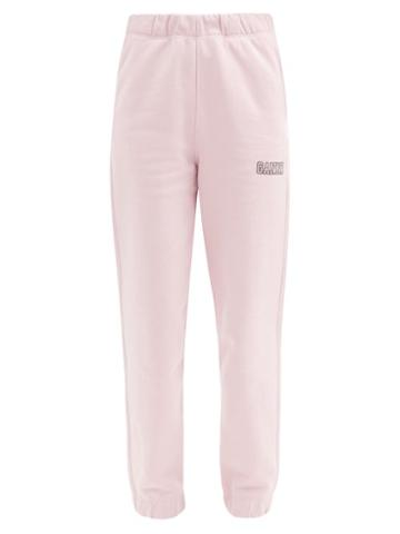 Matchesfashion.com Ganni - Software Recycled Cotton-blend Track Pants - Womens - Pink
