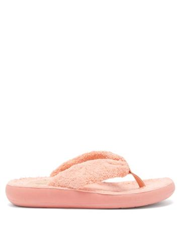 Ladies Shoes Ancient Greek Sandals - Charisma Terry Flip Flops - Womens - Pink