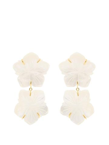 Lizzie Fortunato Paper Pearl Flower-drop Earrings