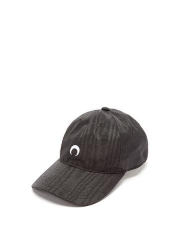 Marine Serre - Logo-embroidered Moir Baseball Cap - Womens - Black