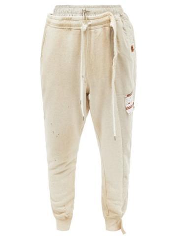 Mihara Yasuhiro - Combined Cotton-blend Jersey Track Pants - Mens - White