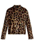 Matchesfashion.com Ashish - Leopard Print Sequined Top - Womens - Brown
