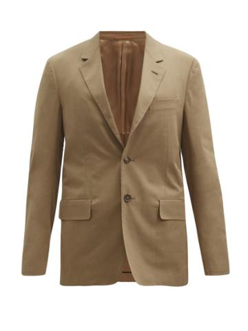 Matchesfashion.com Caruso - Macbeth Wool-blend Gabardine Blazer - Mens - Brown