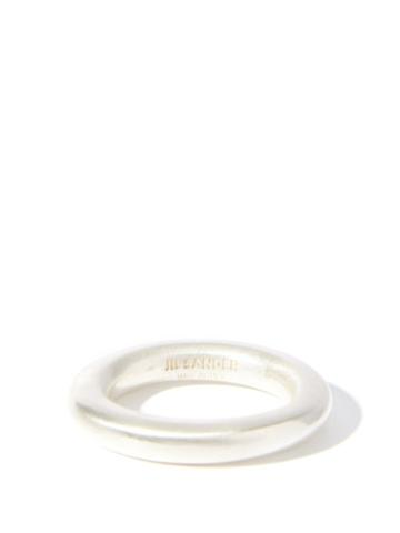 Matchesfashion.com Jil Sander - Halo-band Sterling-silver Ring - Womens - Silver