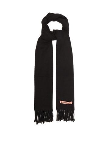 Acne Studios - Canada Narrow New Wool Scarf - Mens - Black