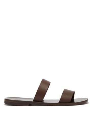 Matchesfashion.com Lvaro - Alex Leather Sandals - Mens - Dark Brown