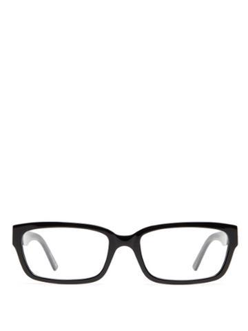 Matchesfashion.com Balenciaga - Rectangular Acetate Glasses - Womens - Black