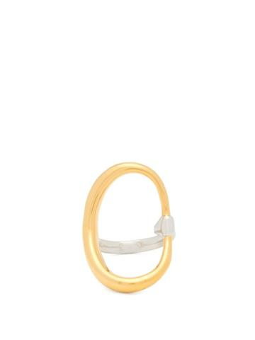 Matchesfashion.com Charlotte Chesnais - Turtle 18kt Gold-vermeil & Sterling-silver Ring - Womens - Gold