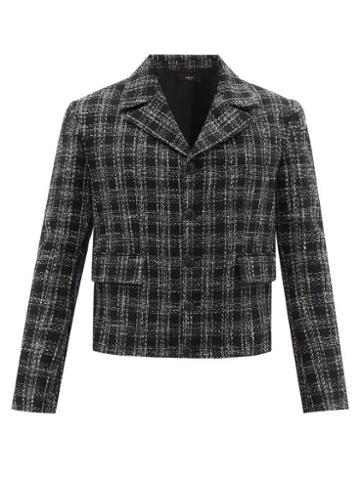 Matchesfashion.com Amiri - Check Cotton-blend Boucl Jacket - Mens - Black
